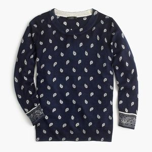 NWT J. Crew Women's Bandana-Printed Tippi Sweater